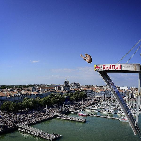 Évènement plongeon sponsorisé par Red Bull